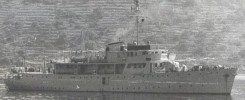 Vis at the anchor in 1962 near Vela Luka